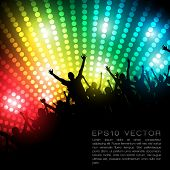 EPS10 Party People Vector Background - Dancing Young People