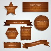 Wood Elements Collection - EPS10 Vector Design