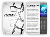 Business Flyer Template - EPS10 Vector Design