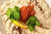 Traditional Lebanese/Arab/Greek  eggplant dip, baba ganoush