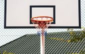 Street Basketball.basketball Hoop Close-up, Healthy Lifestyle Concept poster