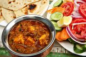 stock photo of kadai  - Kadai paneer cheese curry in a cardamon gravy - JPG