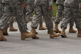 foto of army soldier  - Marching soldiers - JPG