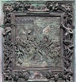 Fragment of the Pisa Cathedral bronze main doors