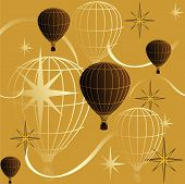 Seamless Background Journey In A Balloon.eps