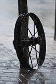 Farm Wheel in Rain