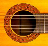 Sound Hole Of Classic Guitar