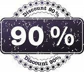 Stamp Discount Ninety Percent
