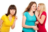 Woman Eavesdrops Gossip