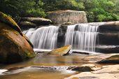 Milky Blue Ridge Waterfall Geometry