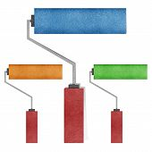 Paint roller recycled paper craft  Background