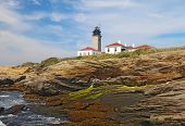 The Beavertail Light On Conanicut Island, Rhode Island