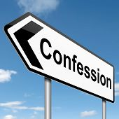 Confession Concept.
