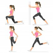 illustrations of basic stretching exercises