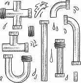 Water pipes sketch