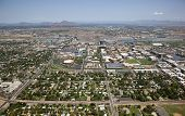 image of piestewa  - Aerial view of the Tempe skyline including the campus of Arizona State - JPG