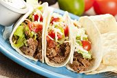 picture of shredded cheese  - Fresh Homemade Shredded Beef Tacos with organic ingredients - JPG