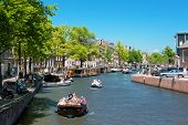 Prinsengracht Channel In Amsterdam