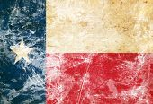 foto of texans  - Texan flag with a vintage and old look - JPG