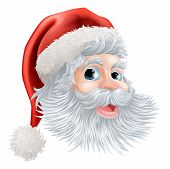Happy Christmas Santa Face