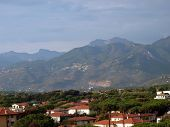 View on the Apuan Alps from Lido di Camaiore