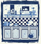 Kitchenpostblue