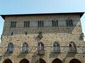 Pistoia  - facade of Palazzo del Comune.Tuscany Italy