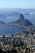Most famous view of Sugar-loaf Mountain end Botafogo Harbor, Rio de Janeiro