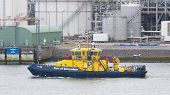 Dutch Coast Guard Ship In Rotterdam