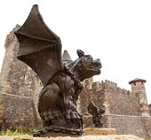 Gargoyle With Castle