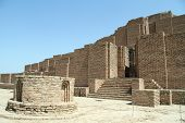 picture of ziggurat  - Brick ziggurat Choqa Zanbil near Shush Iran - JPG