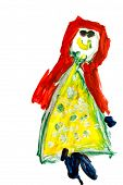 Child's Drawing - Smiling Girl