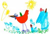 Child's Drawing - Poultry Yard