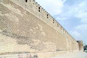 image of shiraz  - Long wall of fortress Arg - JPG