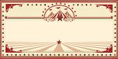 stock photo of marquee  - Circus card red vintage - JPG