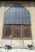 stock photo of shiraz  - Wooden window of palace in fortress Arg - JPG