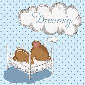 Baby bear dreaming