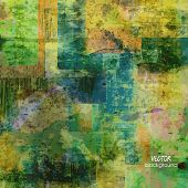 art abstract  grunge squares background in vector