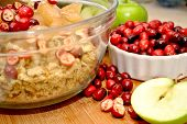 Apple Cranberry Dressing vorbereiten