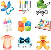 baby toys and things icons
