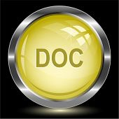 Doc. Internet button. Raster illustration.