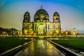 stock photo of dom  - Berliner Dom is the colloquial name for the Supreme Parish and Cathedral Church in Berlin - JPG
