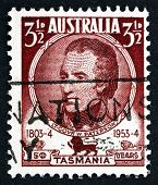 Estampilla Australia 1953 William Paterson, teniente gobernador