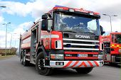 Scania 114G Fire Engine On Display