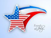 4th of July, American Independence Day background with star and national bird eagle in flag colors