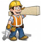 Constraction trabalhador - carpinteiro