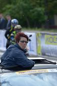 KIEV, UKRAINE - MAY 24: UCI Commissaire Isabel Maria Franco Fernandes, Portugal examines the course