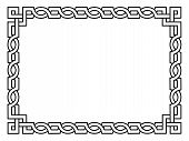 Roman style black ornamental decorative frame
