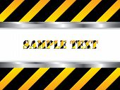 pic of safety barrier  - Construction background in black and yellow with white space for text - JPG