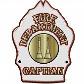 Fire Department Captian Helmet Shield